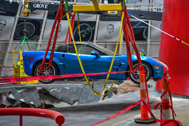 corvette museum collapse three museum sinkhole corvettes to be restored