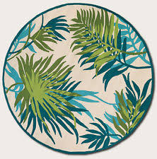 Tropical Outdoor Rugs Floral Round Tropical Area Rugs Ebay