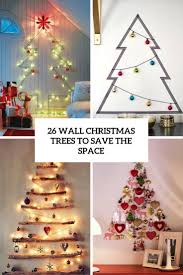 wall christmas tree 26 wall christmas trees to save the space shelterness
