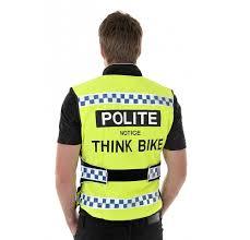 motorbike vest polite think bike hi viz vest motorcycle waistcoat tabard jacket