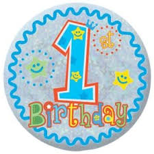 boy 1st birthday happy 1st birthday badge baby boy birthday ebay