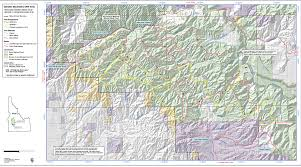 Bitterroot Mountains Map Danskin Mountains Ohv Trails Idaho A Climbing Guide