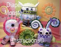 diaper monster diaper cake instructions baby shower gift