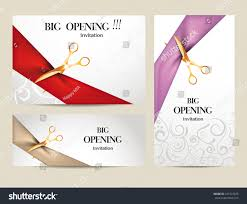 business inauguration invitation card sample set big opening invitation cards ribbons stock vector 241547875