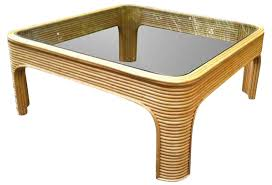 Bamboo Table Top by Vintage Bamboo Coffee Table With Glass Top Omero Home