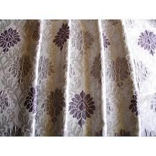 Vintage Drapery Fabric Lavender Damask Curtain Fabric Upholstery Fabric Curtain Panels