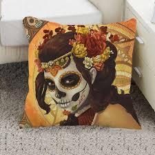 steampunk halloween pillow cover sugar skull halloween pillow