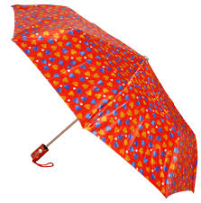 red blue and brown heart print umbrella free image peakpx