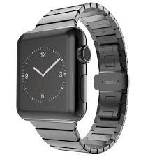 black stainless steel link bracelet images High quality link bracelet band for apple watch series 3 2 1 42mm jpg