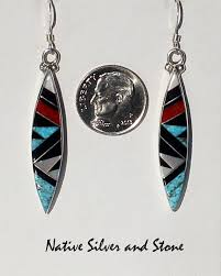 sharp earrings zuni jewelry tagged zuni earrings silver llc