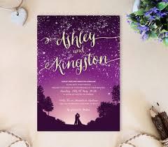 purple and gold wedding invitations purple wedding invitations lemonwedding