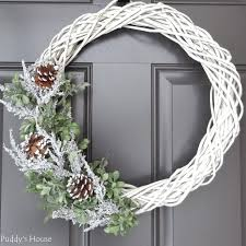 diy winter wreath u2013 puddy u0027s house