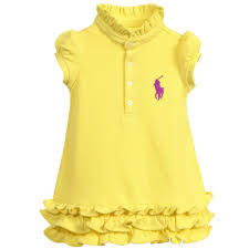 ralph baby yellow polo dress with knickers