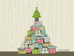christmas presents wallpapers christmas illustration christmas presents and pot tree wallpaper
