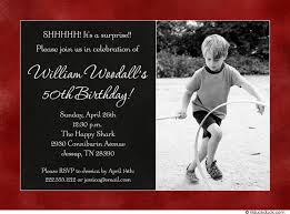 photo 50th birthday invitation childhood boy party