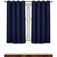 Blue Window Curtains Utopia Bedding Blackout Room Darkening And Thermal
