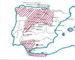 Valencia Spain Map by Spanish Civil War Objective Madrid Spainthenandnow