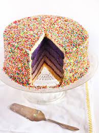 Raspberri Cupcakes Purple Ombre Sprinkles Cake
