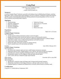 Computer Technician Resume Template Sample Computer Technology Resume Sample Computer Programmer