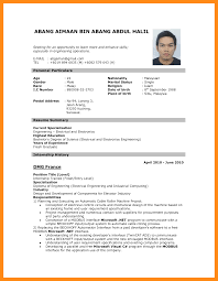 Resume Format Pdf For Civil Engineer Experienced by Job Application Resume Format Pdf Free Resume Example And