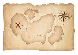 treasure map treasure map isolated clipping path is included stock photo