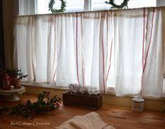 Kitchen Cafe Curtains Kitchen Cafe Curtains With A Tension Rod And Curtain Clips The