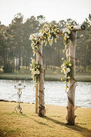 wedding backdrop outdoor simple river wedding backdrop
