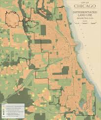 City Of Chicago Map by Metropolitan Chicago Land Use General
