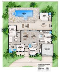florida house plans with courtyard pool coastal contemporary florida house plan 52921 level one plans with