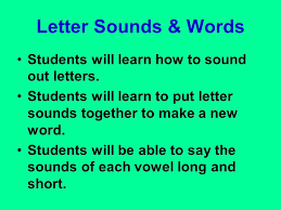 letter sounds u0026 words students will learn how to sound out letters
