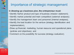 objectives of mission statement chapter 5 entrepreneurial strategy learning outcomes on 3 importance