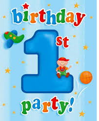 1st birthday for boys 8 count party invitations at one happy birthday