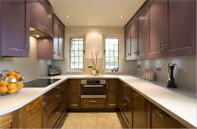 kitchen u shaped kitchen remodel with contemporary oak and