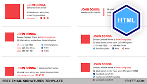 Html Email Signature Templates Free professional free email signatures html template on behance