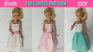 diy how to make barbie doll dress free pattern youtube