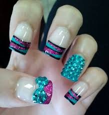 Rhinestone Nail Design Ideas 35 Best Quinceanera Nail Art And Ideas Quince Beauty Sweet 15