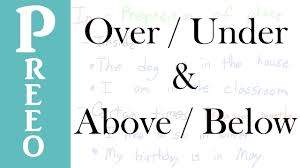 over under above below explanation youtube