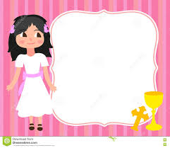 Holy Communion Invitation Cards First Holy Communion Card Template Little White Dress