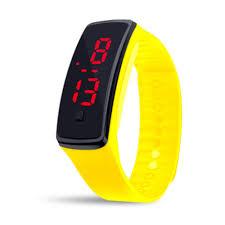 bracelet digital watches images Dropshipping for unisex rubber led watch date sports bracelet jpg