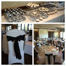 Black And White Chair Covers Black Linen With Silver Charger Black Napkin Black Chair Cover