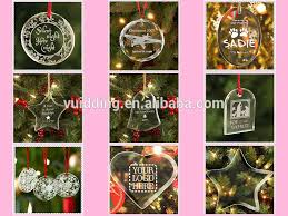 wholesale clear personalized acrylic ornament with engraved tree
