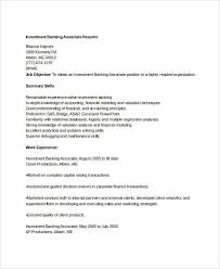 Sample Investment Banking Resume by Simple Banking Resume 29 Free Word Pdf Documents Download