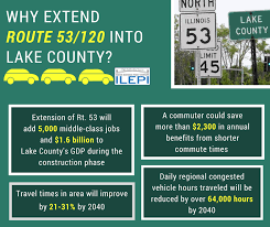 The route 53 extension enjoys broad support in lake county and