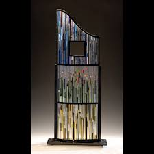 hand crafted fused glass sculpture by glass art of brookyln