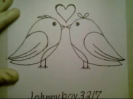 how to draw a valentine heart love birds pictures drawing kissing