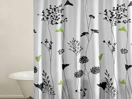 bathroom black and white shower curtain size black and white shower curtain curtains overstock pretty bathroom set