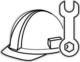 construction tools coloring pages firefighter hat coloring page clipart panda free clipart images