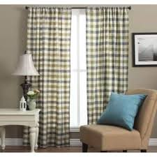 Green Checkered Curtains Check Curtains U0026 Drapes Shop The Best Deals For Dec 2017
