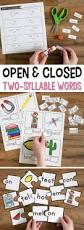 Syllable Worksheets Open And Closed Syllables Games And Activities