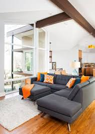 Orange Living Room Chairs by Awesome Grey And Orange Living Room Ideas On Classic Home Interior